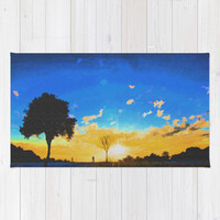Before dusk melted colors of the world. Area & Throw Rug by Nirvana.K | Society6