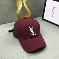 YSL Women Embroidered Baseball Cap Hat
