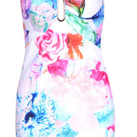 Floral Couture Party Dress