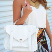 On The Sunny Side Purse: White