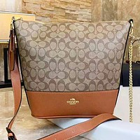 Samplefine2 Coach Fashion New Pattern Leather Shopping Leisure Bucket Bag Shoulder Bag Women Crossbody Bag