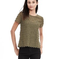 Banana Republic Teardrop Lace Top