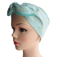 Atomic Starlite Mint Fabric Head Wrap Scarf