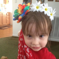 Flowered Hairband with Large Crochet Flower and Small Fabric Flowers