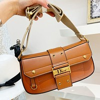 DIOR Fashionable Women Shopping Handbag Leather Crossbody Satchel Shoulder Bag