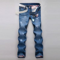 Winter Strong Character Korean Men Pants Fashion Jeans [6528598275]