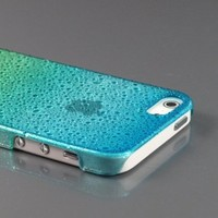 ZuGadgets Blue+Green Sparkling Water Droplet Raindrop Design Clear Case Cover Shell for Apple New iPhone 5 5G 5th Generation (7918-1):Amazon:Cell Phones & Accessories