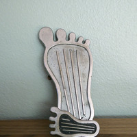"""1970s vintage Cal Custom Big foot surfer gas pedal with matching dimmer pedal, 9"""" foot pedal, Hot rods"""