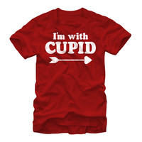 Valentine's Day I'm With Cupid Mens Graphic T Shirt