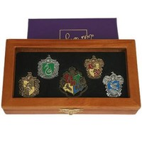 Hogwarts House Pin Set by Noble Collection   HarryPotterShop.com
