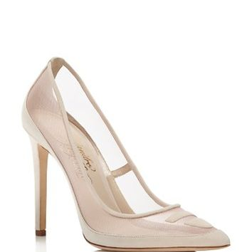 Alejandro IngelmoTron Mesh Pointed Toe Pumps