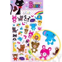 Kawaii Mixed Animal Elephant Panda Tiger Frog Jelly Stickers for Scrapbooking and Decorating