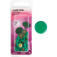 Anchor Wire 122675 Thumb Tacks Green