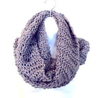 Unisex Knit Infinity Scarf Chunky Cowl Long Scarf Neck Warmer Women Men Clothing Fashion Accessories Gift Ideas