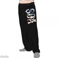 Authentic Sons Of Anarchy SOA FLAG Reaper Gun Sleep Lounge Pants New