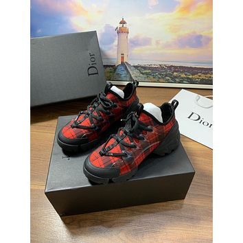 Dior 2021 NEW ARRIVALS Men's And Women's Leather Fashion Low Top Sneakers Shoes