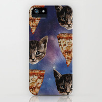 Kitten Pizza Galaxy  iPhone Case by Beth Zimmerman | Society6