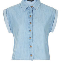 Petite Short Sleeve Crop Shirt - New In This Week  - New In