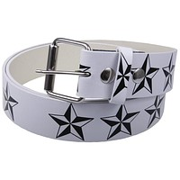 Nautical Stars Leather Belt
