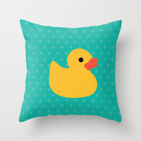 Duck it ! Throw Pillow by Catalin Anastase | Society6
