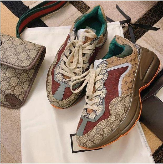 Image of LV Louis vuitton GG Rhyton Sneakers Shoes