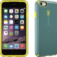 iPhone 6S Case and iPhone 6 Case by Speck Products, CandyShell Protective Case, Heritage Grey/Anti-Freeze Yellow Core