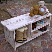 Shoe Bench - Dorm Room - Shoe Storage - Wedding Gift Ideas - Wood Bench - Furniture - Entryway - Hall - Entry Organizer - 36.5 Long