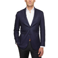 The Dark Blue Warwick Sport Coat with Patch Pockets
