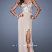 Strapless Nude Gown by La Femme