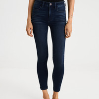 AE Denim X4 High-Waisted Jegging Crop, Deep Indigo