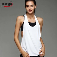Woman Summer Yoga Sports Vest Fitness Tank Top Active Workout  Clothes Sleeveless T-Shirt Running Gym Jogging Vest  F-49