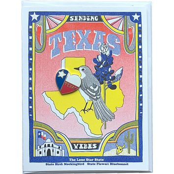 Texas Lapel Pin & Card