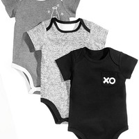 First Impressions 3-Pk. XO Milk Cotton Bodysuits, Baby Boys & Girls, Created for Macy's Kids - All Baby - Macy's