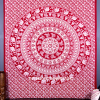 Indian Hippie Tapestries, Tapestry Wall Hanging, Mandala Tapestries, Bohemian Tapestry, Boho Bed Coverlet, Dorm Decor Tapestries, Ethnic Art