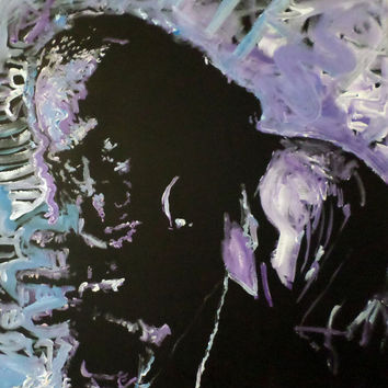 Large Pop Art Painting - Miles Davis Painting - Hand Painted Art - Statement Piece - Wall Decor - Unique Acrylic Painting on Canvas