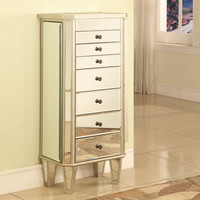 Powell Mirrored Jewelry Armoire With Silver Wood - Beyond the Rack