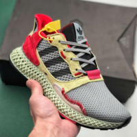 "Adidas Consortium ZX 4000 4D""White/Grey""4D Running Sports Sneakers Shoes"