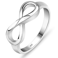 Sterling Silver Rings Infinity Rings for Women Promise Rings Fashion Jewelry