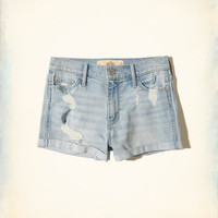 Girls High-Rise Denim Short-Shorts | Girls New Arrivals | HollisterCo.com