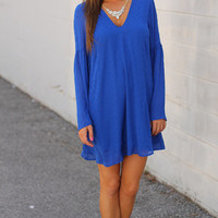 Criss Cross My Heart Dress, Royal Blue