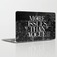 More Issues Than Vogue Black and White NYC Manhattan Skyline Laptop & iPad Skin by RexLambo