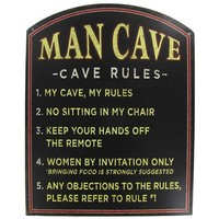 Man Cave Rules Tin Sign | Shop Hobby Lobby