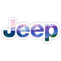 'Jeep Mountain' Sticker by authenticity