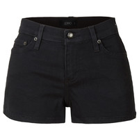 LE3NO Womens Fitted Stretch Mid Rise Denim Shorts