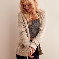 Aerie Boucle Bomber, Oatmeal