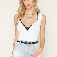 Snap-Button Crop Top | Forever 21 - 2000177578