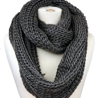 Spring Fever Women's Warm Thick Knitted Infinity Scarf YW015