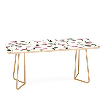 Lisa Argyropoulos Peonies on White Coffee Table