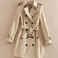 High-end Elgland famous Brand trench femmes Style Autumn Classic Clipping Elegant Coat female  high fashion trench coat woman
