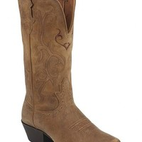 Justin Distressed Puma Cowhide Stampede Cowgirl Boots - Snip Toe - Sheplers